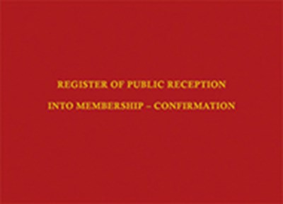 Register of Public Reception into Membership – Confirmation