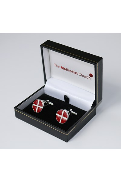 Methodist Cufflinks (red and white)