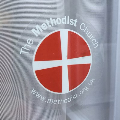 Methodist Window Sticker