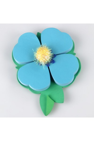 Petal Pads Sticky Notes, Blue