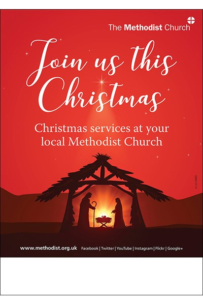 Join us this Christmas A5 poster