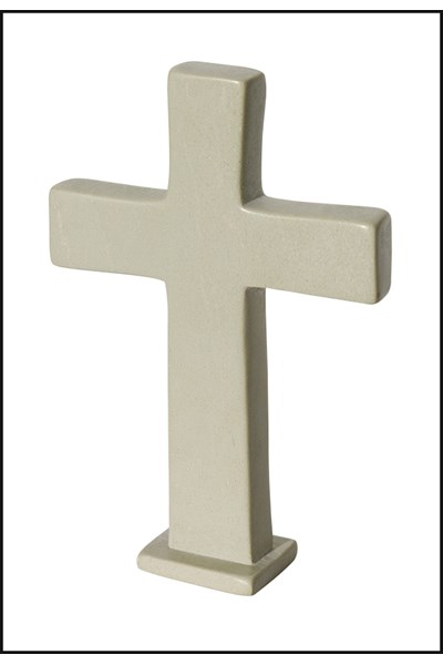 Standing Natural Soapstone Cross - small, 10 cm