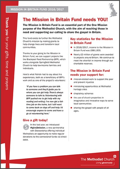 Mission in Britain Fund - information sheet