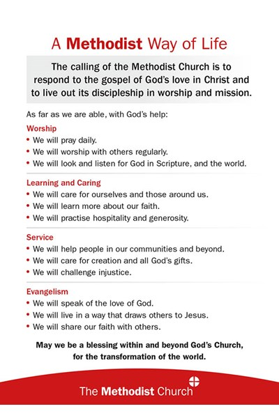 A Methodist Way of Life Commitment Card