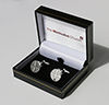 Cufflinks (rhodium plated)