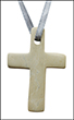 Hanging Natural Soapstone Cross - small, 5 cm