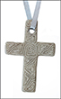 Hanging Grey Soapstone Cross - small, 5 cm